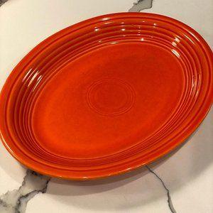 HLC Fiesta fiestaware Medium Oval Platter POPPY
